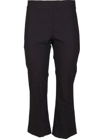 Avenue Montaigne Black Viscose Trousers