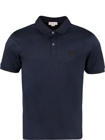 Alexander McQueen Short-sleeved Cotton Polo Shirt