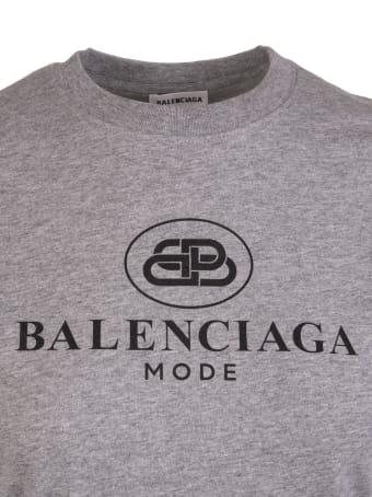 Balenciaga Regular Filt Bb Logo T-shirt