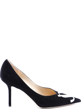 Jimmy Choo Suede/patent Pump
