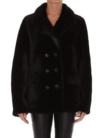 Yves Salomon Ironed Fur Jacket