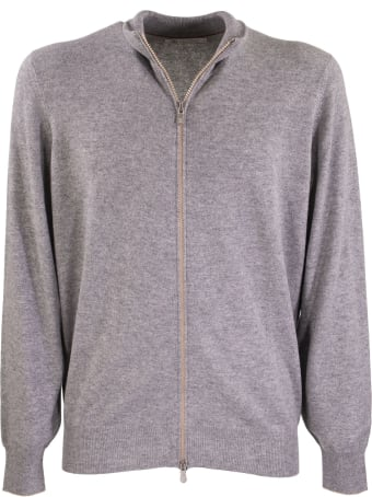Brunello Cucinelli Zip-front Cardigan Cashmere Mock Turtleneck Cardigan With Zipper
