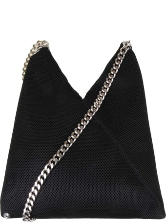 MM6 Maison Margiela Japanese Bag In Black Color Fabric