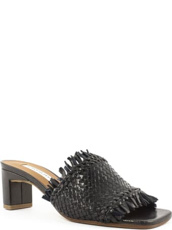 Roberto Festa Adila Black Woven Leather Sandal