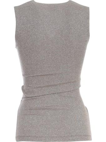 M Missoni Jersey Top Wide Shoulder W/knot