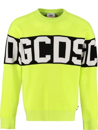 GCDS Intarsia Crew-neck Sweater