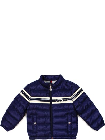 Moncler Blue Feather Down Padded Jacket