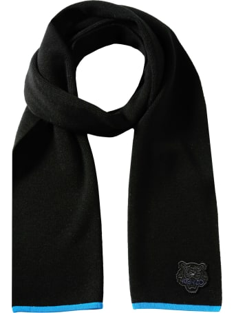 Kenzo Scarf With Tiger Patch