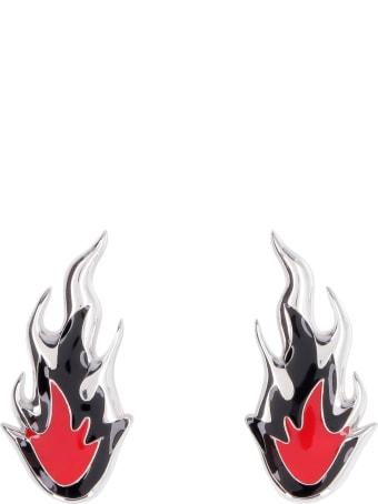 AMBUSH Flame Silver Earrings