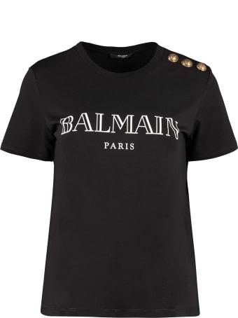 Balmain Logo Cotton T-shirt