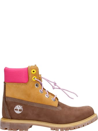 Timberland Combat Boots In Leather Color Suede