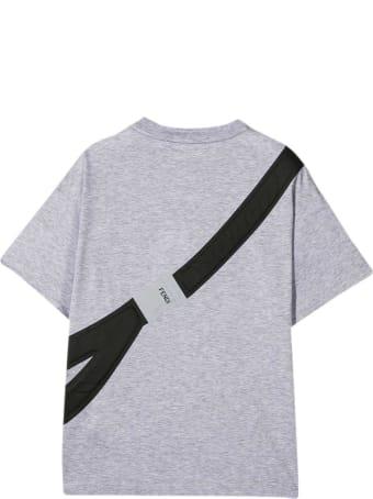 Fendi Gray Teen T-shirt