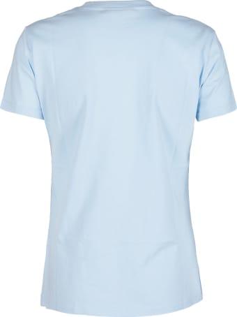 Chiara Ferragni Baby Blue Cotton Flirting T-shirt