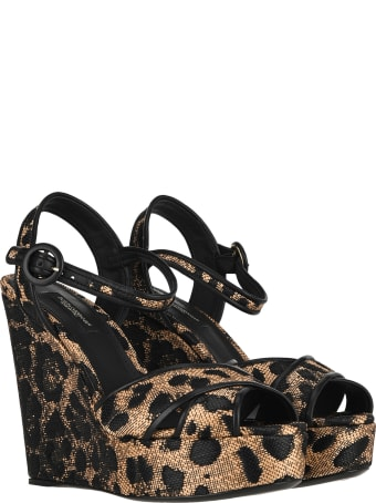 Dolce & Gabbana Dolce&gabbana Leopard Print Wedge Heels