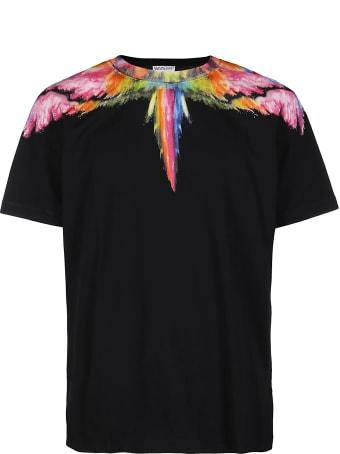 Marcelo Burlon Black And Multicolor Cotton Wings T-shirt
