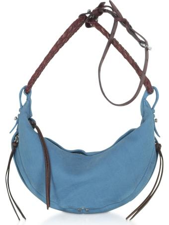 Jerome Dreyfuss Willy M Light Blue Leather Shoulder Bag
