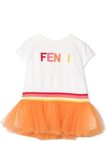 Fendi White Cotton Dress