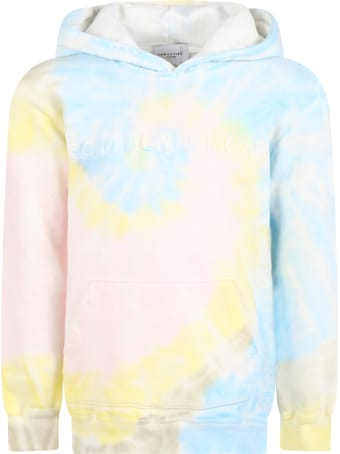 Family First Milano Tie-dye Sweatshirt For Kids With Logo