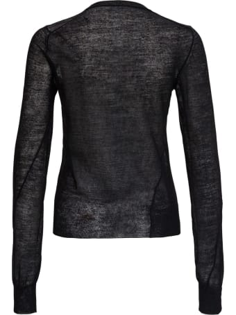 Jil Sander Wool Fitted Black Sweater