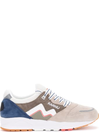 Karhu Aria Sneakers In Gray And Blue Suede And Fabric
