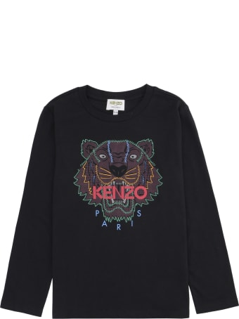 Kenzo Kids Long Sleeve Cotton T-shirt