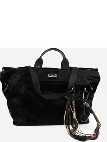 Dolce & Gabbana Black Sicily Dna Travel Bag In Nylon