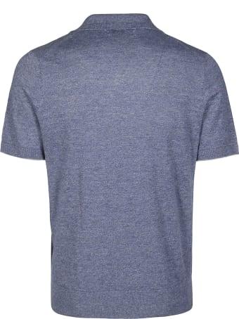 Brunello Cucinelli Light Blue Cotton Polo Shirt