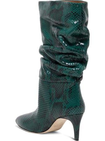 Paris Texas Python Print Leather Ankle Boots