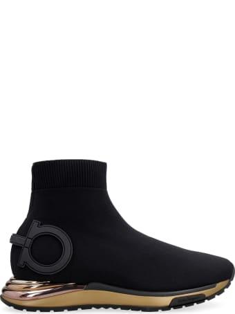 Salvatore Ferragamo Gardena Knitted Sock-style Sneakers