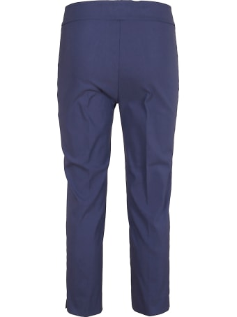 Avenue Montaigne Blue Viscose Trousers