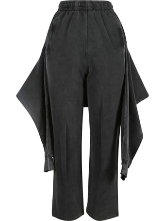 Balenciaga Ribbed Waist Cropped Pants