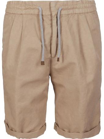 Brunello Cucinelli Beige Linen-cotton Blend Shorts
