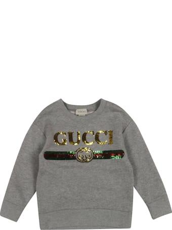 Gucci Sequin Logo Sweatshirt