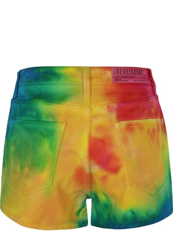IRENEISGOOD Rainbow Denim Shorts