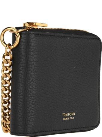 Tom Ford Logo Printed Chain Wallet