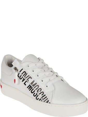 Love Moschino Side Zipped Logo Print Sneakers