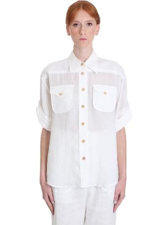 Zimmermann Shirt In White Cotton