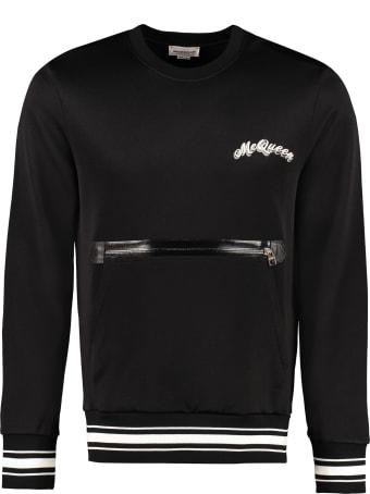Alexander McQueen Embroidered Crew-nek Sweatshirt