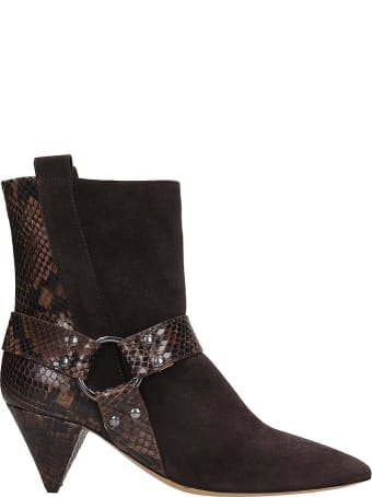 The Seller Ankle Boots In Brown Suede