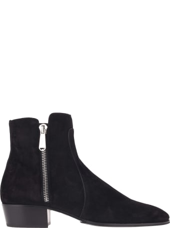 Balmain Mike Suede Leather Boots