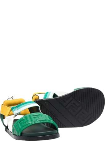 Fendi Green Sandals