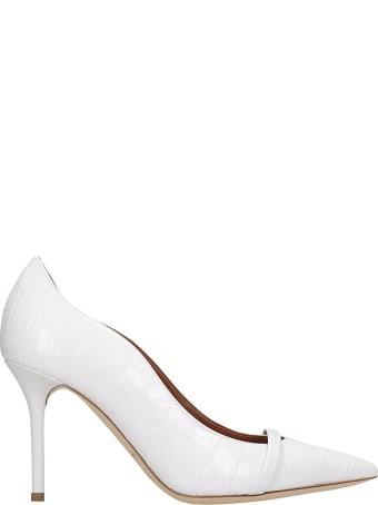 Malone Souliers Maybelle Pumps In White Leather