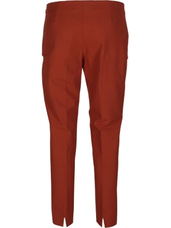 Piazza Sempione Orange Cotton Trousers