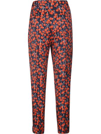 Victoria Beckham Cherries Printed Trousers