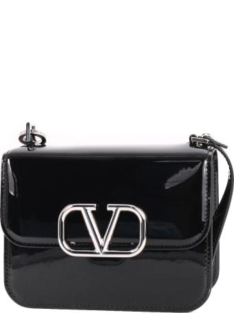 Valentino V Logo Patent Bag