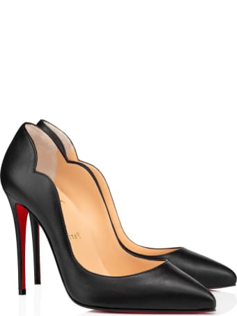 Christian Louboutin Black Leather Hot Chick Pumps