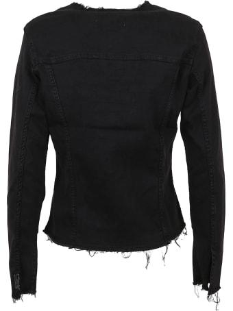 7 For All Mankind Denim Jacket Bair Rinsed Black