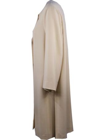 Antonelli Dress In Soft Cream-tone Fabric