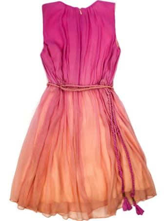 Chloé Pink And Orange Silk Blend Dress