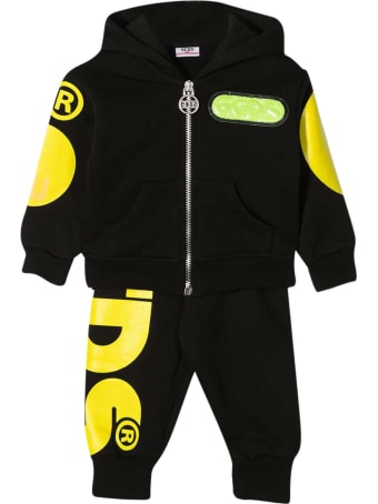 GCDS Mini Black Sports Suit